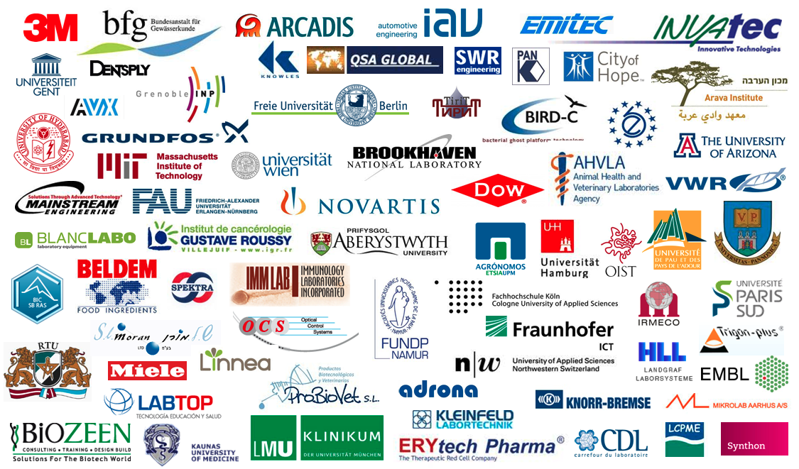 Short selection of LAMBDA Laboratory Instrument's list of customers all over the world